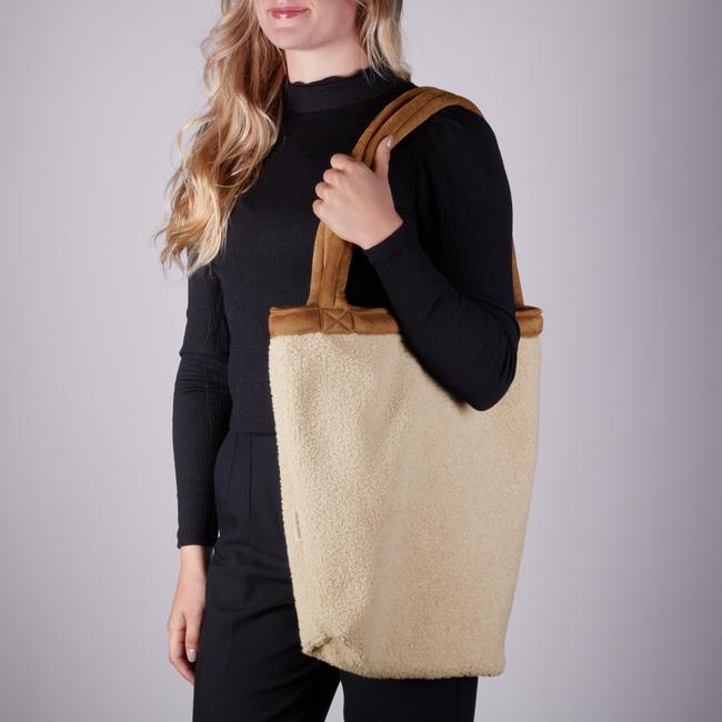 Beige STUDIO NOOS Shopper TEDDY LAMMY MOM-BAG  - large