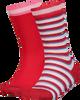 Roze TOMMY HILFIGER Sokken TH KIDS SOCK 2P LUREX STRIPE  - small