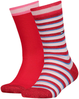 Roze TOMMY HILFIGER Sokken TH KIDS SOCK 2P LUREX STRIPE  - medium
