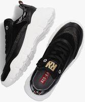 Zwarte RED-RAG Lage sneakers 13140  - medium