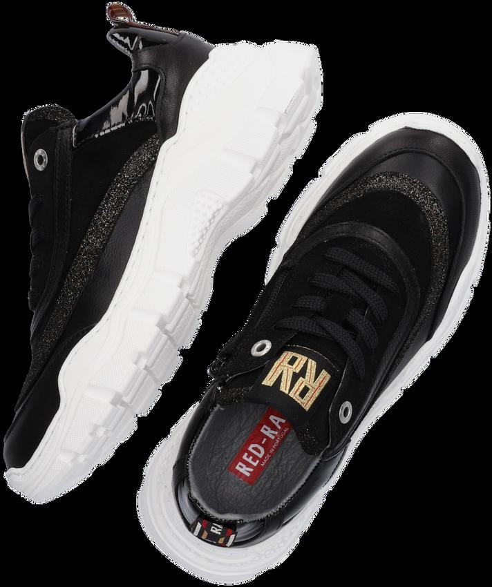 Zwarte RED-RAG Lage sneakers 13140  - larger