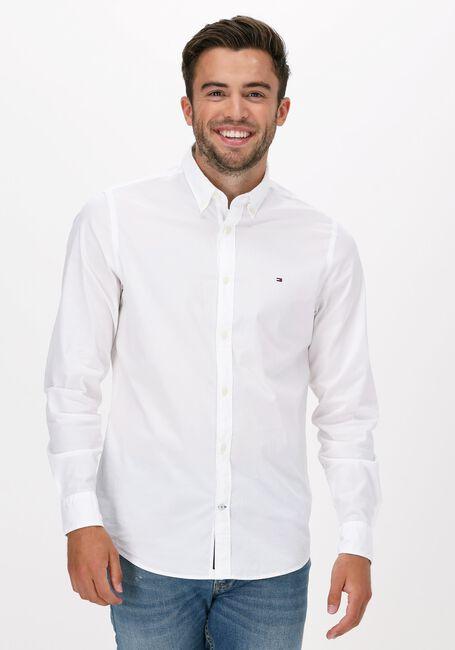 Witte TOMMY HILFIGER Casual overhemd CORE STRETCH SLIM POPLIN SHIRT  - large