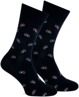 Zwarte MARCMARCS Sokken RED PARIS  - medium