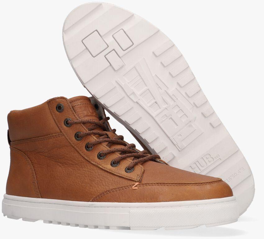 Cognac HUB Hoge sneaker GLASGOW  - larger