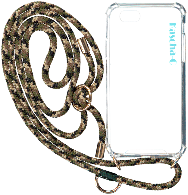 Groene KASCHA-C Telefoonkoord PHONECORD IPHONE 7+/8+  - large