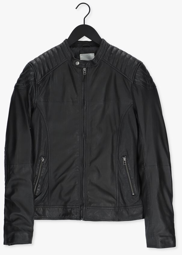 Zwarte GOOSECRAFT Leren jas BIKER919  - larger