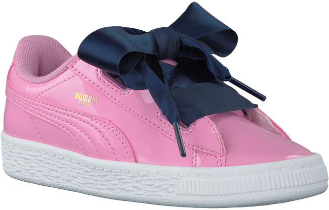 Roze PUMA Sneakers BASKET HEART PATENT KIDS  - large