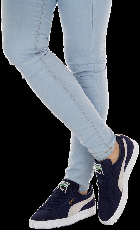Blauwe PUMA Sneakers SUEDE CLASSIC+ DAMES | Omoda