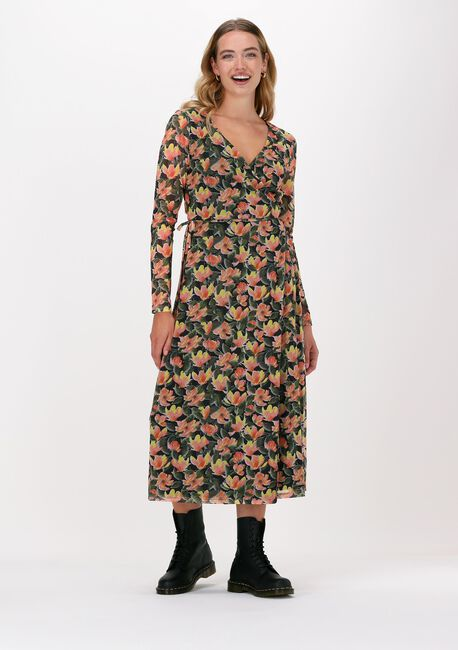 Oranje NA-KD Midi jurk OVERLAP MIDI DRESS - large