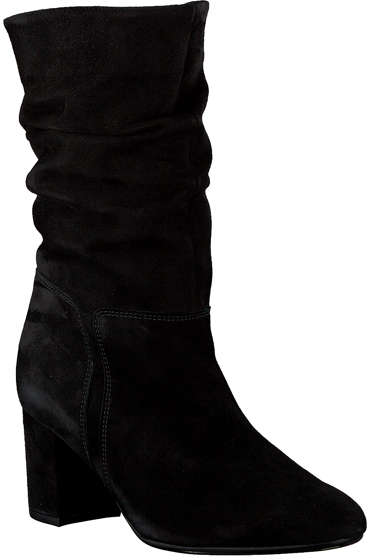 Zwarte GABOR Lange laarzen 801.1   Omoda