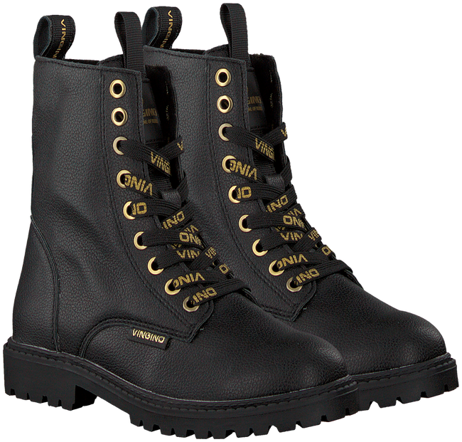 Zwarte VINGINO Veterboots EVA HIGH  - large