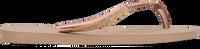 Gouden HAVAIANAS Slippers SLIM GLITTER  - medium