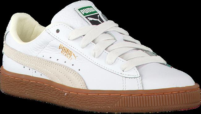 Witte PUMA Sneakers BASKET CLASSIC GUM DELUXE JR - large