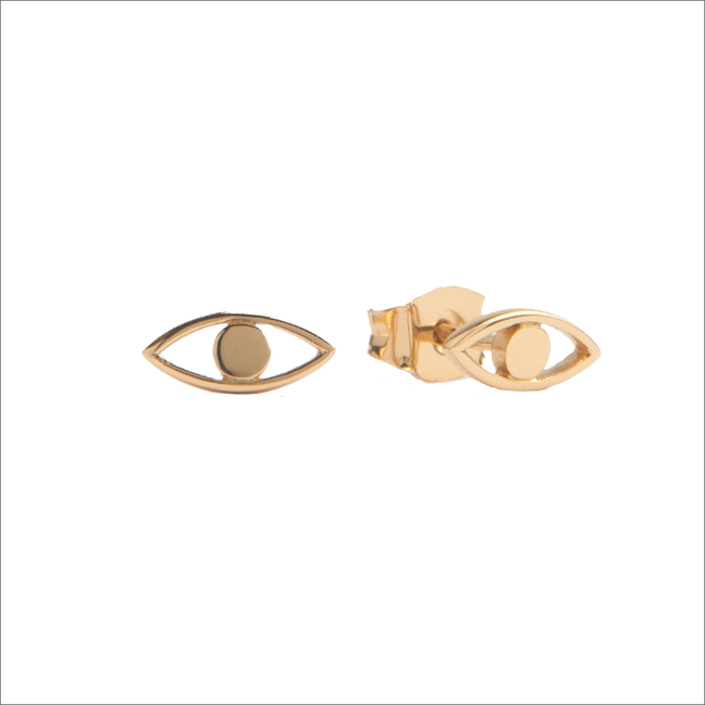 Gouden ATLITW STUDIO Oorbellen PARADE EARRINGS EYE - large