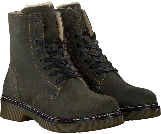 Groene BULLBOXER Veterboots AHC518 - large