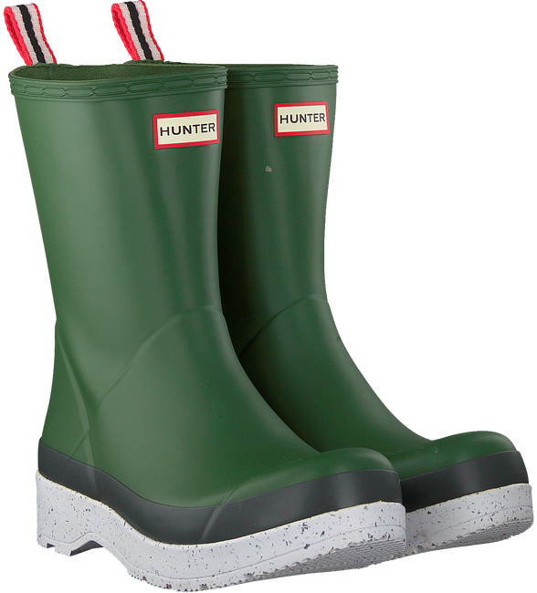 Groene HUNTER Regenlaarzen PLAY MID BOOT SPECKLE - large