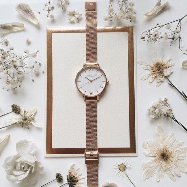 Gouden OLIVIA BURTON Horloge BIG DIAL - large