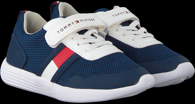 Blauwe TOMMY HILFIGER Sneakers LOW CUT LACE UPVELCRO