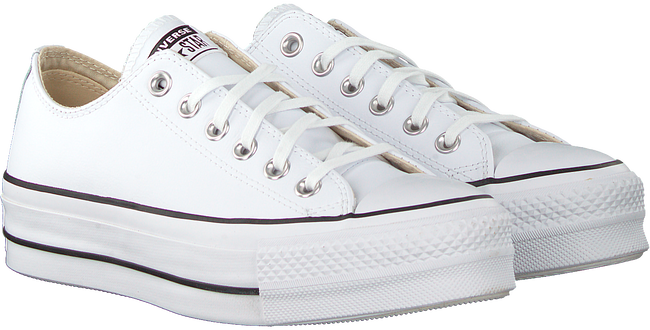 Witte CONVERSE Lage sneakers CHUCK TAYLOR AS LIFT CLEAN OX  - large