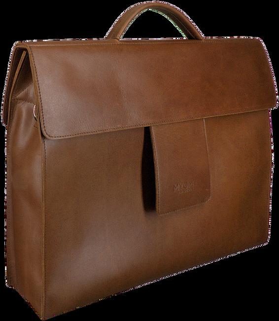 Bruine MYOMY Laptoptas MY HOME BAG BUSINESS BAG  - large
