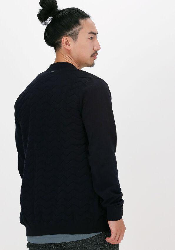 Donkerblauwe VANGUARD Vest BOMBER JACKET COTTON POLYAMIDE - larger