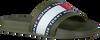 Groene TOMMY HILFIGER Badslippers FLAG PRINT POOL SLIDE  - small