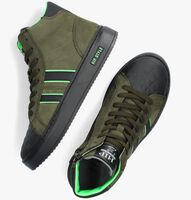 Groene HIP Hoge sneaker H1943  - medium