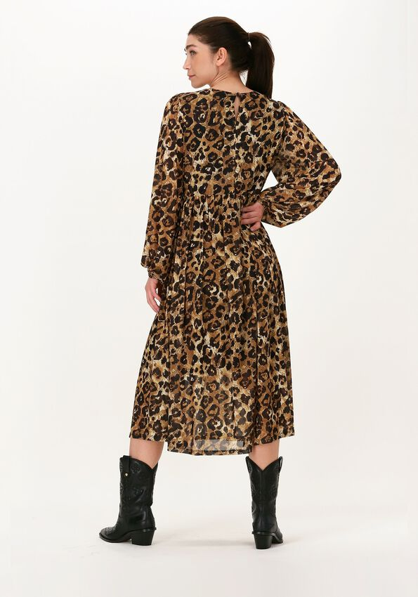 Leopard OBJECT Midi jurk SIRO LS DRESS - larger