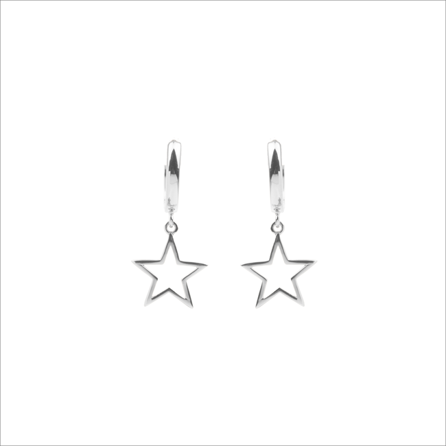Zilveren ALLTHELUCKINTHEWORLD Oorbellen SOUVENIR EARRINGS STAR - large