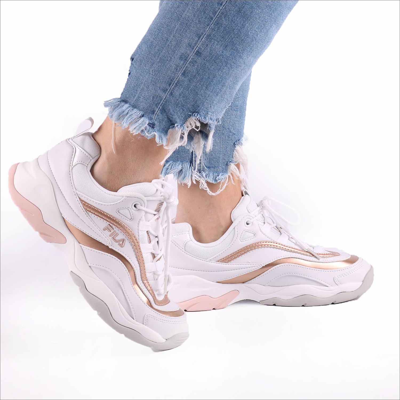 Witte FILA Sneakers RAY F LOW WMN - Omoda