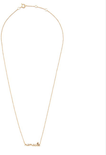Gouden ALLTHELUCKINTHEWORLD Ketting URBAN NECKLACE NAMASTE - large
