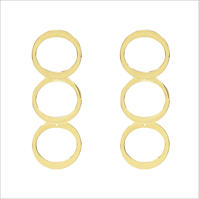 Gouden MY JEWELLERY Oorbellen CIRCLES EARRINGS  - large