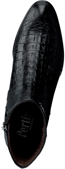Zwarte PERTINI Enkellaarsjes 16170 - large