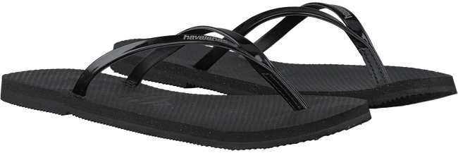 Zwarte HAVAIANAS Slippers YOU METALLIC  - large