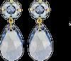 Blauwe JEWELLERY BY SOPHIE Oorbellen DOUBLE GLAMOUR EARRINGS - small