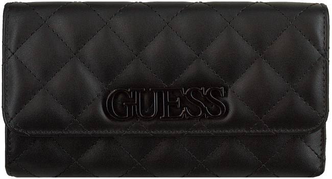 Zwarte GUESS Portemonnee ELLIANA SLG  - large