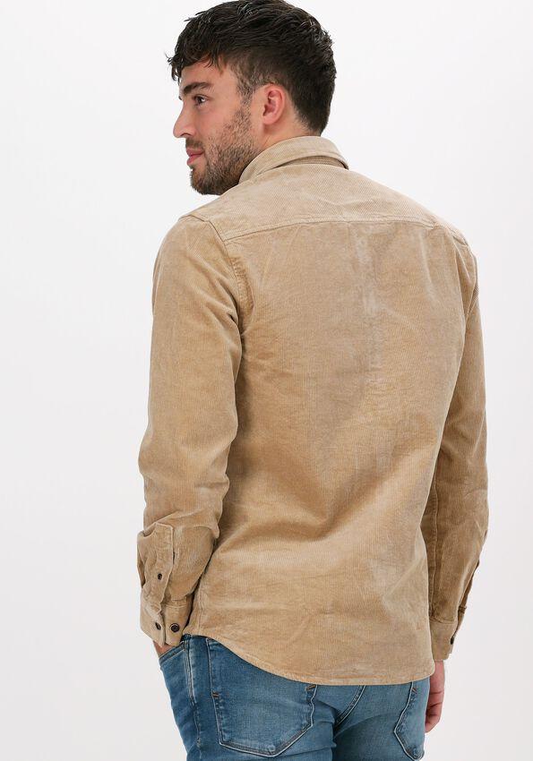 Beige ANERKJENDT Casual overhemd AKKONRAD CORD SHIRT - larger