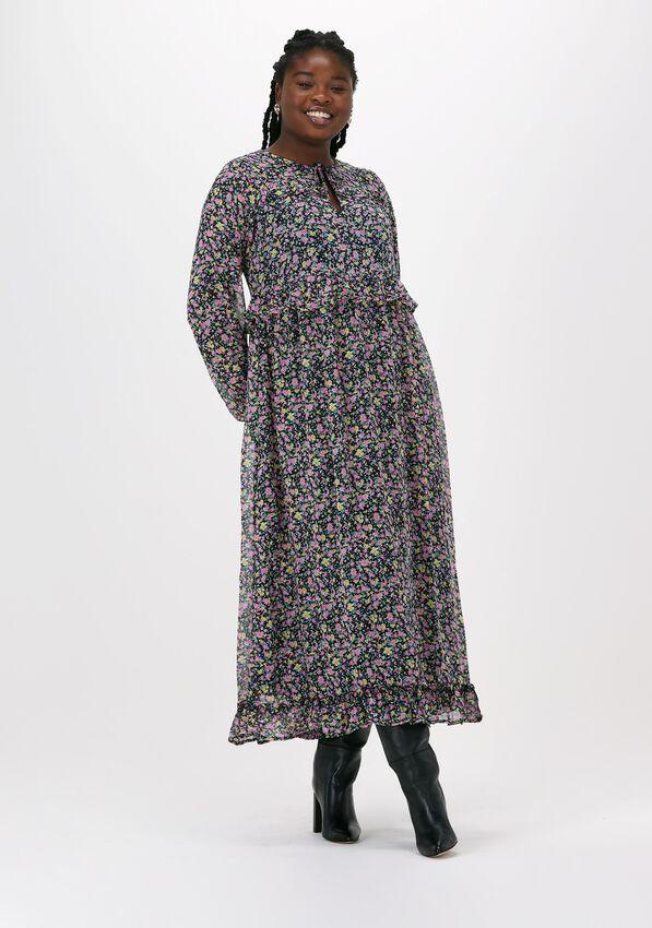Zwarte MOVES Maxi jurk CHIFONELLA  - larger