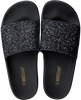 Zwarte THE WHITE BRAND Slippers GLITTER BEACH - small