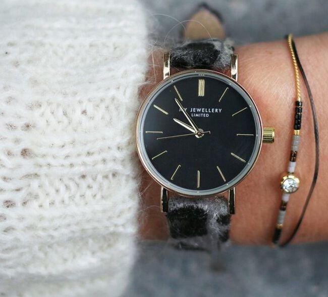 Grijze MY JEWELLERY Horloge LEOPARD WATCH - large