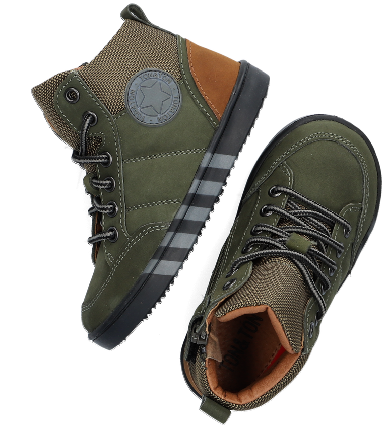 Groene TON & TON Hoge sneaker BRAGE  - larger