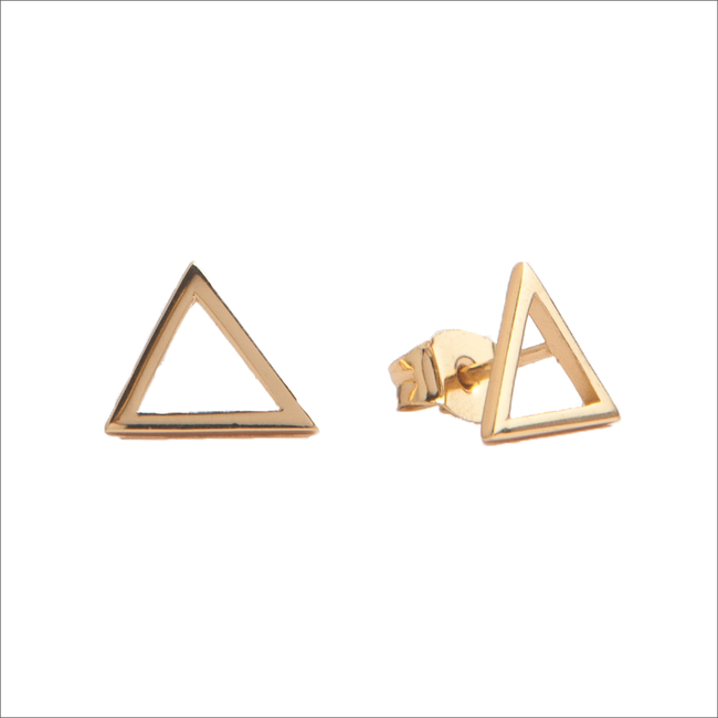 Gouden ATLITW STUDIO Oorbellen PARADE EARRINGS OPEN TRIANGLE - large