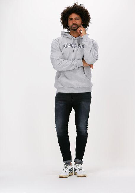 Lichtgrijze BLS HAFNIA Sweater VARSITY ARCH HOODIE - large