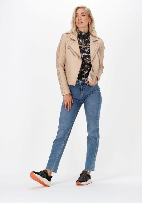 Bruine SCOTCH & SODA T-shirt PRINTED LONG-SLEEVED HIGH NECK  - large