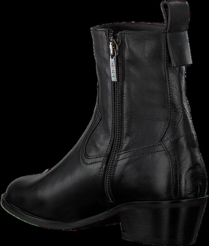 Zwarte NOTRE-V Enkellaarsjes 485  - larger