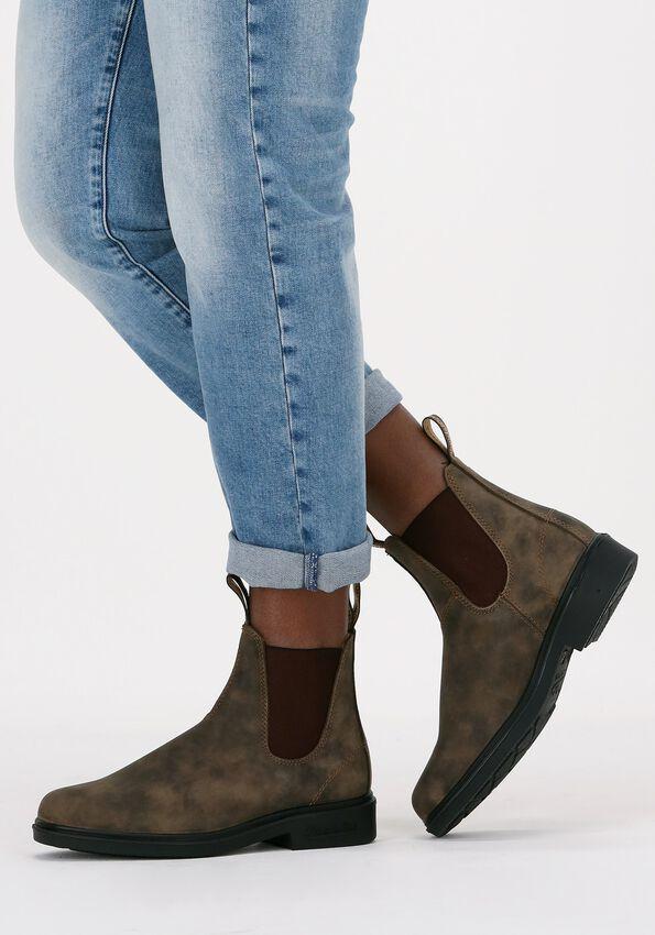Bruine BLUNDSTONE Chelsea boots DRESS BOOT DAMES  - larger