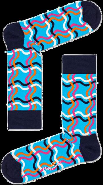 Blauwe HAPPY SOCKS Sokken SQUIGGLY SOCK  - large
