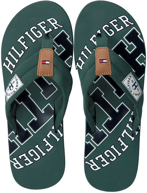 Groene TOMMY HILFIGER Slippers ESSENTIAL TH BEACH SANDAL - large