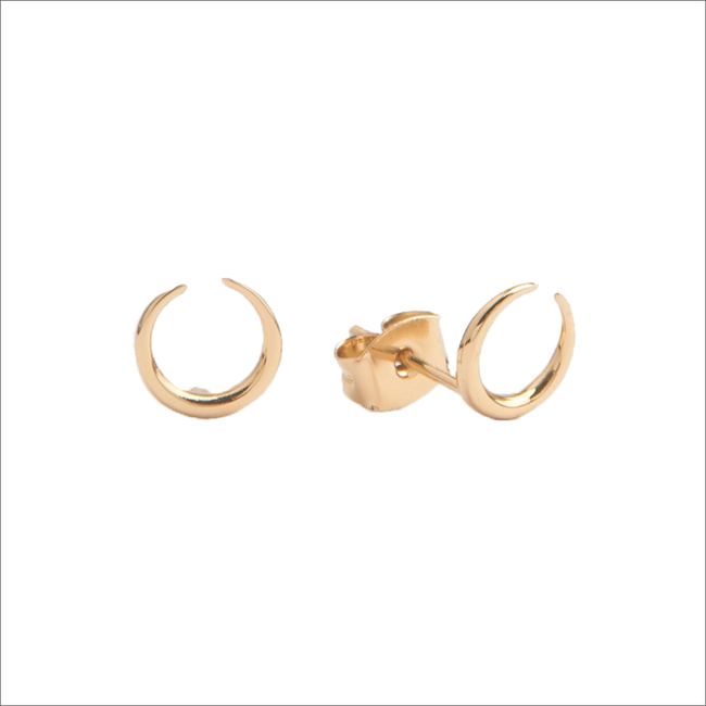Gouden ATLITW STUDIO Oorbellen PARADE EARRINGS HORN - large