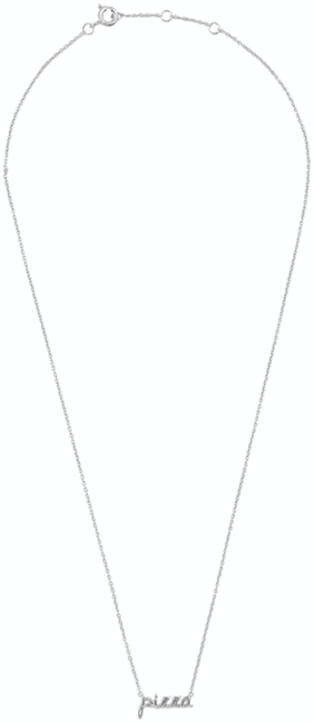 Zilveren ALLTHELUCKINTHEWORLD Ketting URBAN NECKLACE PIZZA - large